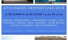 Atividades Desportivas de Férias entre 22/6 e 26/7